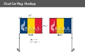 Chad Car Flags 10.5x15 inch Premium
