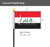 Iraq Stick Flags 4x6 inch (New Design)