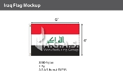 Iraq Flags 4x6 foot (New Design)