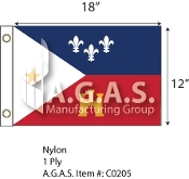 Acadiana Flags 12x18 inch