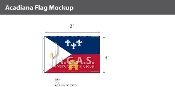 Acadiana Flags 4x6 foot