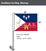 Acadiana Car Flags 12x16 inch Economy