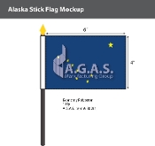 Alaska Stick Flags 4x6 inch