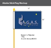 Alaska Stick Flags 12x18 inch
