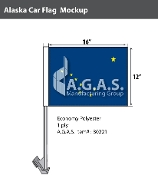 Alaska Car Flags 12x16 inch