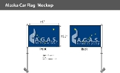 Alaska Car Flags 10.5x15 inch