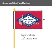 Arkansas Stick Flags 12x18 inch