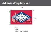 Arkansas Flags 12x18 inch