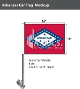 Arkansas Car Flags 12x16 inch