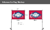 Arkansas Car Flags 10.5x15 inch