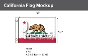 California Flags 12x18 inch