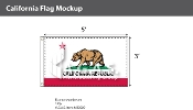 California Flags 3x5 foot