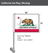 California Car Flags 12x16 inch