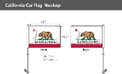 California Car Flags 10.5x15 inch