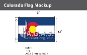 Colorado Flags 12x18 inch