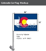 Colorado Car Flags 12x16 inch