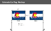 Colorado Car Flags 10.5x15 inch