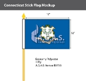 Connecticut Stick Flags 12x18 inch