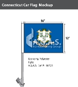 Connecticut Car Flags 12x16 inch