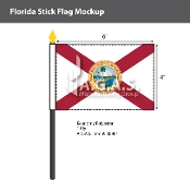 Florida Stick Flags 4x6 inch