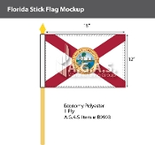 Florida Stick Flags 12x18 inch