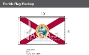 Florida Flags 6x10 foot