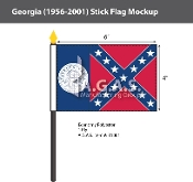 Georgia Stick Flags 4x6 inch (1956-2001)