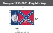 Georgia Flags 12x18 inch (1956-2001)