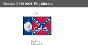 Georgia Flags 2x3 foot (1956-2001)