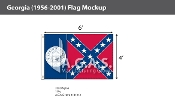 Georgia Flags 4x6 foot (1956-2001)