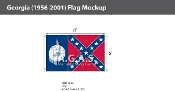 Georgia Flags 5x8 foot (1956-2001)