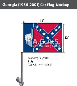 Georgia Car Flags 12x16 inch (1956-2001)