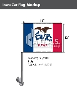 Iowa Car Flags 12x16 inch