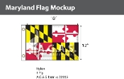 Maryland Flags 12x18 inch