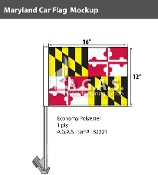 Maryland Car Flags 12x16 inch