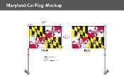 Maryland Car Flags 10.5x15 inch