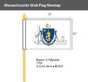 Massachusetts Stick Flags 12x18 inch