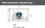 Massachusetts Flags 12x18 inch