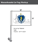 Massachusetts Car Flags 12x16 inch