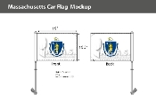 Massachusetts Car Flags 10.5x15 inch