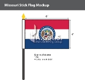 Missouri Stick Flags 4x6 inch