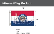 Missouri Flags 12x18 inch