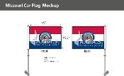 Missouri Car Flags 10.5x15 inch