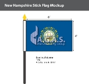 New Hampshire Stick Flags 4x6 inch