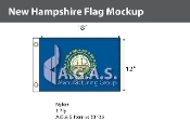 New Hampshire Flags 12x18 inch