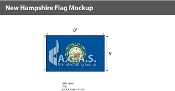 New Hampshire Flags 5x8 foot