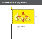 New Mexico Stick Flags 4x6 inch