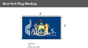 New York Flags 3x5 foot