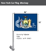 New York Car Flags 12x16 inch