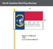 North Carolina Stick Flags 12x18 inch